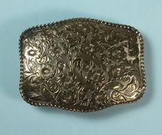Vintage Belt Buckle Crumrine 22K Gold on Sterling by PastSplendors http://etsy.me/HS4hhN via @Etsy