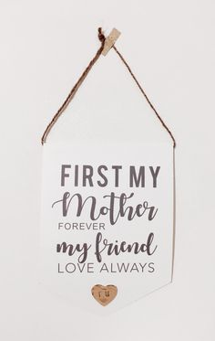 Mother's Day Keepsake Wall Hanger with personalised message by cherishwithlove on Etsy