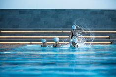 The extension also includes exercise facilities and is used by both the public and local amateur and professional sports teams – including the Norwegian elite synchronised swimming team.