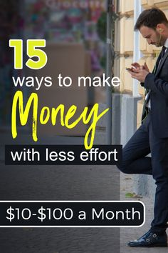 Do you want to make money online for free or with less effort? Try 15 methods listed in this post for making extra cash. Most of them are work at home jobs and side hustles for making extra money. Check and find out. Make Money Fast Online, Earn Money Fast, Make Money Now, Ways To Earn Money, Money Tips, Work From Home Companies, Work From Home Jobs, Sell Old Books, Legitimate Online Jobs