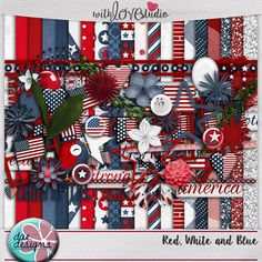 Red, White & Blue - digital scrapbooking kit from Dae Designs. Celebrate your love for your country with this patriotic kit! Whether it's a weekend with the family, watching fireworks, or just enjoying the holiday, this kit will work for all your pictures!