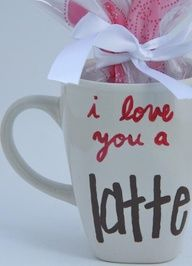 This coffee mug is a cute idea for my husband. Then add candy.