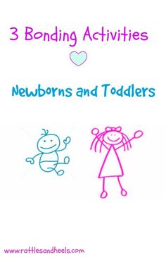 Three activities that your newborn and toddler can bond over. #siblingbonding #newborns #toddlers