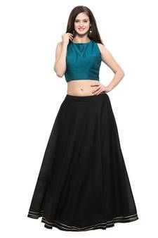 Cotton Lehenga - Pure cotton lehengas soft, synthetic and all types of designer cotton lehengas online. Cotton Lehenga, Blue Lehenga, Ghagra Choli, Lehenga Choli Online, Aqua Blue, Skater Skirt, Cotton Fabric, Elegant, Skirts