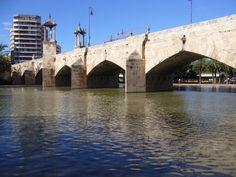 Puente del Mar. Valencia Monumental Architecture, Medieval, Spain, City, Places, Valencia Spain, Bridges, Boats, Photos