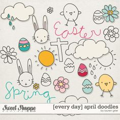 [every day] april doodles by lauren grier at sweet shoppe designs