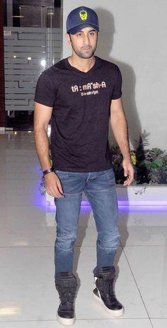 Ranbir Kapoor at the 'Tamasha' wrap-up bash. #Bollywood #Tamasha #Fashion #Style #Handsome