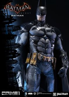 The Dark Knight is ready for his toughest challenge on the Batman: Arkham Knight Polystone Statue. Based on the action-adventure video game, the fourth main Batman Suit, Batman Batman, Superman, Comic Book Characters, Fictional Characters, Batman Arkham Knight, Deathstroke, Sideshow Collectibles, Dark Knight