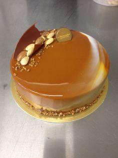 Caramel glaze Entremet  #nlc #pastries #normanloveconfections