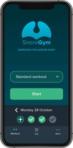 SnoreGym – The exercise app for quiet sleep Trust Yourself, Take Care Of Yourself, What Is Sleep Apnea, Soft Palate, 15 Minute Workout, Snoring Remedies, Workout Log, How To Stay Motivated, Helpful Hints