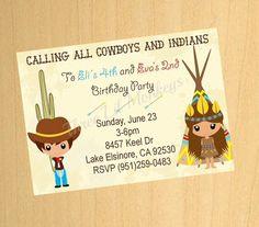 Einladung Kindergeburtstag Cowboy Indianer Wilder Westen