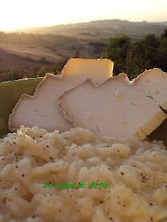 Risotto al Montébore--This Slow Food Presidium cheese is produced only in the Gavi & Tortonese wine zone of Piemonte, Italy http://www.winepassitaly.it/index.php/en/travel-wineries-piedmont/maps-and-wine-zones/gavi-and-tortonese/itinerary/eating-up-the-hills#!prettyPhoto