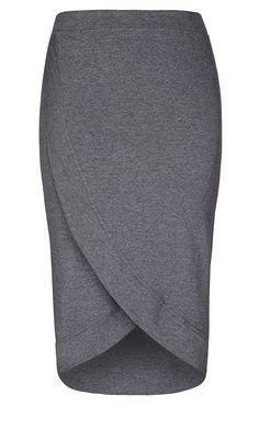 City Chic - COOL WRAP SKIRT  - Women's Plus Size Fashion
