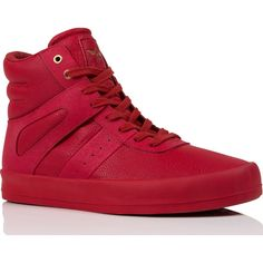 Creative Recreation creates sleek and unique designs for comfortable and stylish usage no matter your style.This eye-catching Moretti Red High-Top Sneaker by Creative Recreation offers a bold look: th