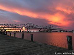 Sunset on Berwick Bay Morgan City, Louisiana, Celestial, Sunset, Travel, Outdoor, Outdoors, Viajes, Destinations