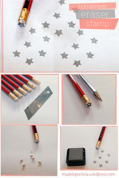 DIY: PENCIL ERASER STAMP