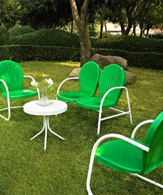 Crosley: Outdoor Furniture on #zulily, retro or vintage outdoor furniture love it! I have the seperate chairs, but would love to find the table and the double chair someday.