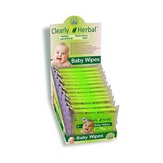 Clearly Herbal 15 count Herbal Baby Wipes  12 packs of 15 count  180 wipes Handy To Go Packs of Wipes ** You can get more details by clicking on the image.-It is an affiliate link to Amazon.