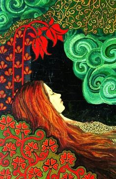 Sleeping Lady Art Deco Goddess Print