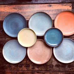 Colourful ceramic plates //