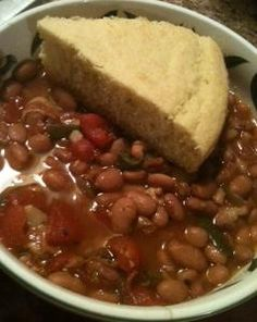 Crock Pot Pinto Beans with Stewed Tomatoes - Koupon Krazed