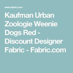 Kaufman Urban Zoologie Weenie Dogs Red - Discount Designer Fabric -  Fabric.com