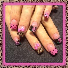 Leopard and pink roses by Oli123 - Nail Art Gallery nailartgallery.nailsmag.com by Nails Magazine www.nailsmag.com #nailart