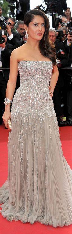 Red Carpet Fashion dress #glitter #strapless
