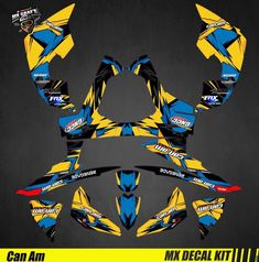 Kit Déco Quad pour / Atv Decal Kit for Can-Am Renegade - Blue Can Am, Iron Man Birthday, Kit, Quad, Decals, Stickers, Canning, Blue, Motorbikes