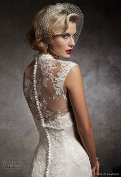 Feminine wedding lace