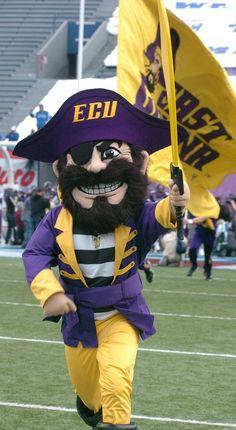 East Carolina University Pirates - mascot PeeDee the Pirate - Football