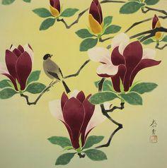 Magnolia and Small Bird