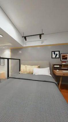 Modern Small House Design, Modern Apartment Design, Small Apartment Interior, Small House Interior Design, Small Room Design Bedroom, Bedroom Furniture Design, Home Room Design, Bedroom Decor, Architect Software
