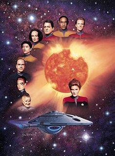 Star Trek Voyager – Cast – 24×32 Lithograph – Signed: Complete Voyager Plus Lien