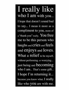 I really like...