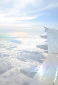 Картинка с тегом «sky, clouds, and airplane»