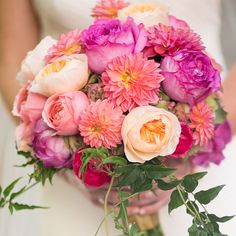 The bride's bouquet includes peonies shipped from abroad and a gorgeous array of colour - See more at: http://magazine.fourseasons.com/weddings/real-weddings/southwestern-santa-fe-wedding#sthash.W587Ewuj.dpuf