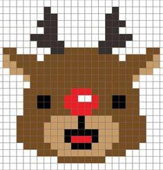 X-mas pixel art Pixel Crochet, C2c Crochet, Crochet Cross, Pixel Art, Hama Beads Patterns, Beading Patterns, Cross Stitch Cards, Cross Stitching, Cross Stitch Designs