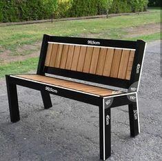Decking scraps sculpted into industrial steel and wood bench – Salvabrani – Diy Furniture Ideas Welded Furniture, Industrial Design Furniture, Iron Furniture, Bench Furniture, Steel Furniture, Furniture Ideas, Metal And Wood Bench, Metal Chairs, Welding Projects