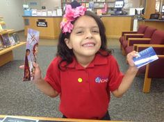 Sara's First Library Card August 2013