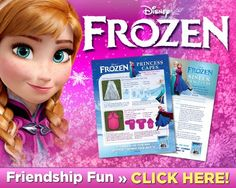 Download Frozen Friendship Fun- Click on this link and then click again on the page.  Has two of her capes to sew easy. +More!