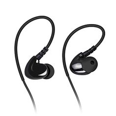 Mixcder Dual Driver Inear Earbuds Memory Music Lockedin Stereo Sound Headsets with Mic Sweatproof Sports Headphones for cell phone PC travel ** Check out this great product.(This is an Amazon affiliate link)