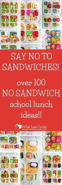 Dozens of easy non-sandwich school lunch ideas
