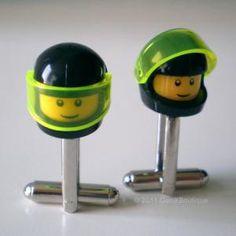 Boutons de manchettes casque Lego