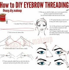 Learn how to thread your eyebrows!