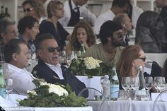 Proud father: Sitting in the stands at the Longines Global Championships Tour in Rome, the 65-year-old Born To Run singer looked on proudly with his wife Patti Scialfa, 62, as their daughter, 23, competed in the event