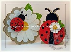 Ladybug Birthday by - Cards and Paper Crafts at Splitcoaststampers Ladybug Crafts, Ladybug Party, Felt Crafts, Easter Crafts, Crafts For Kids, Girl Birthday Cards, Birthday Greetings, Spring Crafts, Kids Cards
