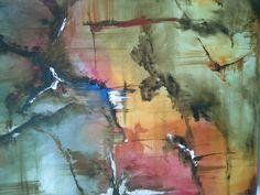 Oleo abstracto sobre lienzo #Art #Designe #Architec #Oleo