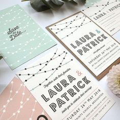Click the image to shop | Festoon Sample Pack | Paper Arrow Press. Modern Wedding Stationery #modernwedding #moderntraditional #romantic #weddingstationery #stationerysamplepack