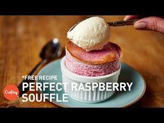 Raspberry Soufflé Recipe + Step-by-Step Video Tutorial